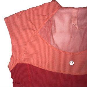 Lululemon Orange Short Sleeves Shirt